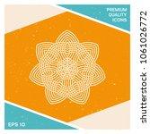 geometric arabic pattern. logo. ... | Shutterstock .eps vector #1061026772