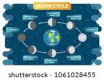 moon cycle vector illustration... | Shutterstock .eps vector #1061028455