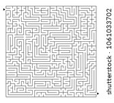 a large square labyrinth. find... | Shutterstock .eps vector #1061033702