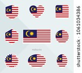 malaysia flag. national flag of ... | Shutterstock .eps vector #1061034386