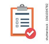 checklist  clipboard. vector...