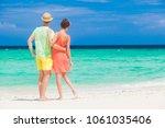 young happy family having fun... | Shutterstock . vector #1061035406