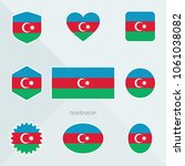 azerbaijan flag. national flag... | Shutterstock .eps vector #1061038082