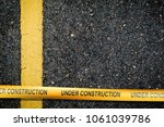 under construction sign... | Shutterstock . vector #1061039786