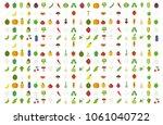 vegetables set fruits... | Shutterstock .eps vector #1061040722