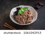 chocolate rice pudding with... | Shutterstock . vector #1061042915