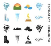 humidity  icicles  thunderbolt  ...   Shutterstock .eps vector #1061046086