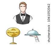 restaurant and bar cartoon... | Shutterstock .eps vector #1061052062