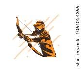 archery wearing helmet designs  ...   Shutterstock .eps vector #1061054366