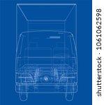concept mini truck sketch. 3d...   Shutterstock . vector #1061062598