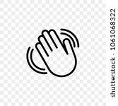 hand waving vector icon of... | Shutterstock .eps vector #1061068322