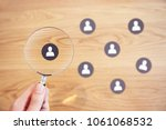 human resources management and... | Shutterstock . vector #1061068532