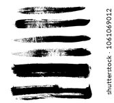 grunge hand drawn paint brush.... | Shutterstock .eps vector #1061069012