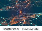 global network. blockchain. 3d... | Shutterstock . vector #1061069282