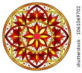illustration in stained glass... | Shutterstock .eps vector #1061069702