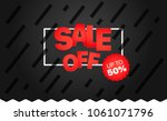 sale banner vector template.... | Shutterstock .eps vector #1061071796