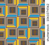 seamless abstract pattern with... | Shutterstock .eps vector #1061074562