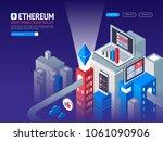 ethereum digital currency.... | Shutterstock .eps vector #1061090906