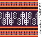 indonesia traditional fabric... | Shutterstock .eps vector #1061091152