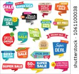 sale stickers and tags... | Shutterstock .eps vector #1061100038