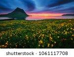 great sunrise over the atlantic ... | Shutterstock . vector #1061117708