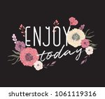 creative typography poster with ... | Shutterstock .eps vector #1061119316