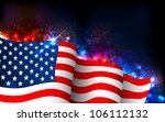 illustration of american flag... | Shutterstock .eps vector #106112132
