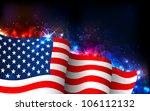 illustration of american flag... | Shutterstock .eps vector #106112132