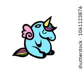 unicorns. vector illustration... | Shutterstock .eps vector #1061123876