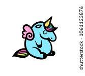 unicorns. vector illustration... | Shutterstock .eps vector #1061123876