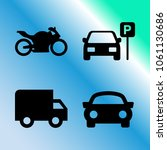 vector icon set about transport ... | Shutterstock .eps vector #1061130686