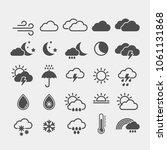 weather flat vector icons set | Shutterstock .eps vector #1061131868