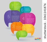 rainbow color infographics step ... | Shutterstock .eps vector #1061141876