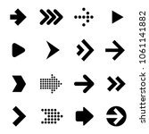 flat design arrow icon set....