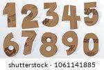 vector cardboard numbers.... | Shutterstock .eps vector #1061141885