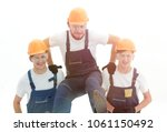 construction worker sitting on... | Shutterstock . vector #1061150492