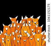 foxes big family  sketch for...   Shutterstock .eps vector #1061152175