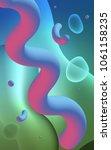 light blue  green vertical... | Shutterstock . vector #1061158235
