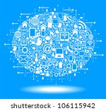 social media  communication in... | Shutterstock .eps vector #106115942