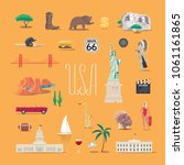 Travel To America Vector Icons...