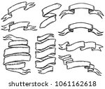 set of hand drawn ribbons and... | Shutterstock .eps vector #1061162618