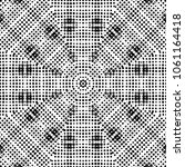 abstract halftone psychedelic... | Shutterstock . vector #1061164418