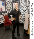 Small photo of BLACKPOOL, JANUARY 14: Madame Tussauds Blackpool, UK 2018. Wax figure of Gok Wan born Kowkhyn Wan; Chinese, is an English fashion consultant, author and television presenter.