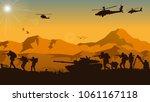 military vector illustration ... | Shutterstock .eps vector #1061167118