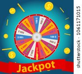 jackpot  the wheel of luck... | Shutterstock .eps vector #1061171015