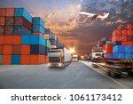 business logistics...   Shutterstock . vector #1061173412