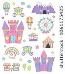 fantasy fairy tale world... | Shutterstock .eps vector #1061175425
