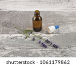 lavender and essence on... | Shutterstock . vector #1061179862