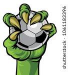 a green claw monster hand...   Shutterstock . vector #1061183396