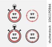timer 57 seconds on gray... | Shutterstock .eps vector #1061190866